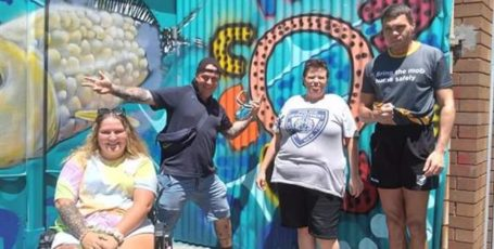 Wickham streetscape gets a fresh new mural thanks to our NDIS participants